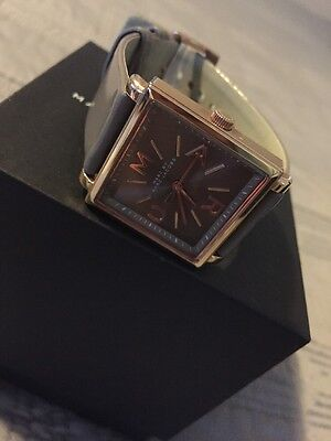 Marc by Marc Jacobs Women's Square Gray Leather & Rose Gold Watch MBM1276 $200