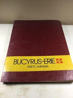 Bucyrus Erie 325h Excavators Parts Catalog Manual Original