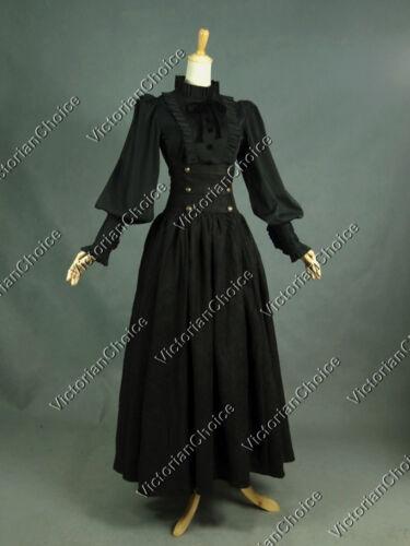 Victorian Gothic Princess Dark Vintage Dress Set Theatrical Steampunk Gown D187