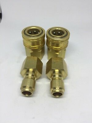 38 Quick Coupler Fitting 2 Sets Pressure Washer Coupler Brass Female Npt