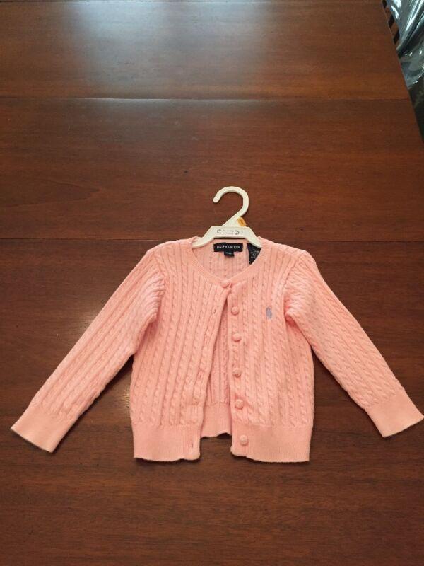 Ralph Lauren Girls Pink Cotton Sweater - Size 18m