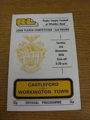 03/12/1978 Rugby League Programme: Castleford v Workington Town