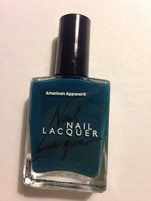 American Apparel Nail Lacquer Discontinued Polish Solid Teal Blue Peacock