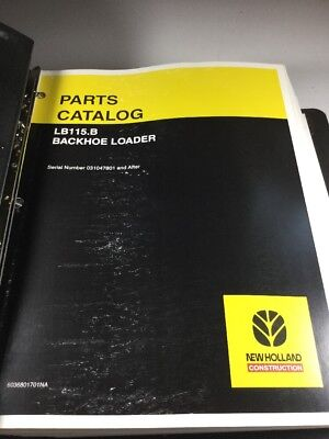 New Holland Lb115.b Backhoe Loader Parts Catalog Manual