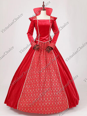 Renaissance Medieval Christmas Holiday Velvet Dress Gown Theater Clothing N 325 - Renaissance Medieval Clothing