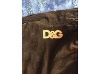 Mens D&G (Dolce And Gabbana) Corduroy Jacket Large Dark Brown - Very Expensive and rare