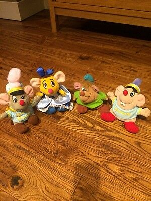 Cinderella Mouse plush Soft toys 4 Rare Mice Disney