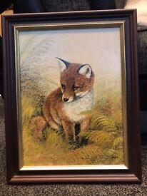 Original Mike Nane Framed Oil Painting