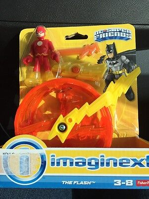 Fisher Price Imaginext DC Super Friends The Flash Lightning Bolt Figure New 2015
