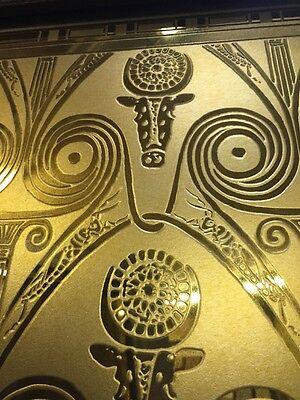 Art Nouveau Deco Etched Detailed Glass Door Rupert Murdoch Estate