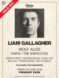 2x Liam Gallagher tickets for Finsbury Park, sold out event
