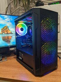 Gaming PC AMD Ryzen 5 3400G. 16GB RAM. 500GB SSD. Wi-Fi.