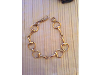 9ct Solid Gold Horse Snaffle Bracelet 22.2 Grams Not Scrap