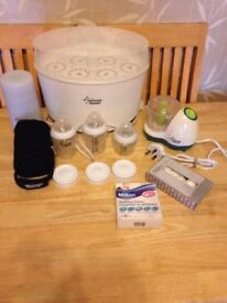 Tommee Tippee bundle - NEW bottles blender flask bottle warmer lids sterilizer - can post