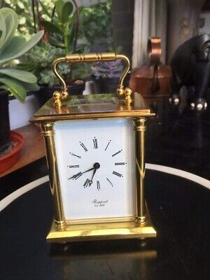 A Stunning Solid Brass Carriage Clock By Rapport, England