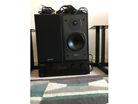 Tannoy E11 Speakers, Pioneer A400 Amp & Target stands