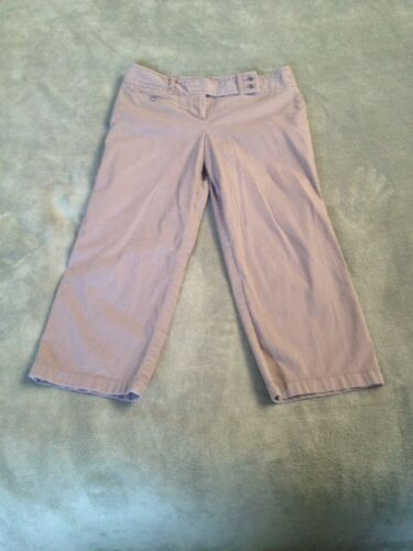 Ann Taylor Signature Fit Brown Capri Cropped Pants sz 8 Just Below Waist Stretch
