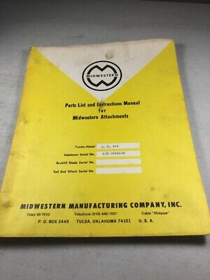 Midwestern Sideboom For John Deere Jd450 Dozer Parts Instruction Manual