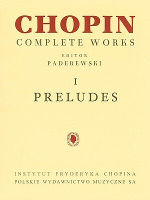 Preludes Sheet Music Chopin Complete Works Vol. I PWM Book NEW 000132309 Complete Works Music Book