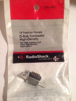 15 Position-female D-sub Solder Connector High-density   276-1502