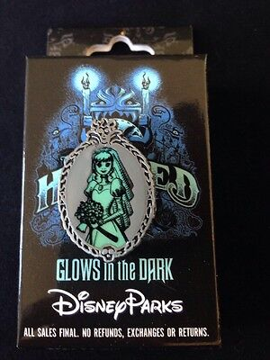 Disney Haunted Mansion Mystery Pin Constance Bride Authentic Glow in the Dark