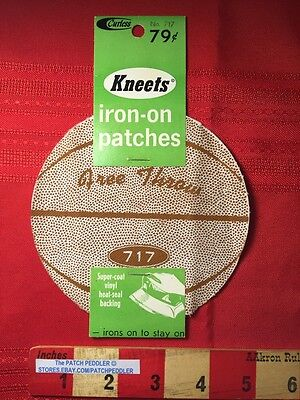 2 Vintage 1969 Kneets BASKETBALL PATCHES (1 Pack = 2 Patches) 5DF2