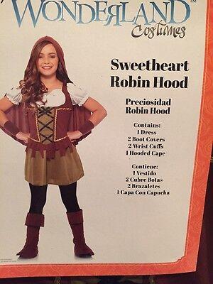 NWT Wonderland Sweetheart Robin Hood Halloween Costume Dress Up Girls L 10-12 (Robin Hood Halloween Costume Accessories)
