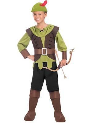 Child Boys Robin Hood Fancy Dress Costume Prince Of Thieves Book Day Kids Hunter