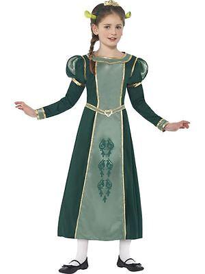 Shrek Prinzessin Fiona Kostüm, Mittelalter 7-9, Shrek lizenzierten - Shrek Prinzessin Fiona Kostüm