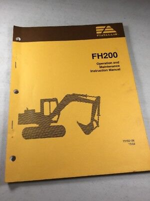 Fiat Allis Fh200 Hydraulic Excavator Operation Maintenance Manual