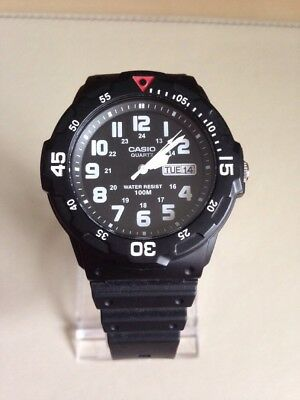 Casio MRW-200H Mens Quartz Watch with black Dial.