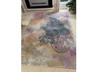 Large rug paisley design