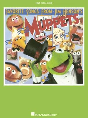 Favorite Songs From Jim Henson's Muppets Sheet Music Piano Vocal NEW 000356866