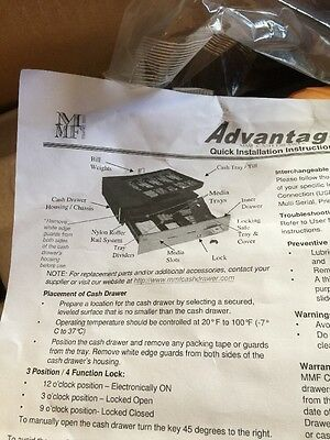 Mmf Advantage 18 Under Counter Interface Enabled Cash Drawer Adv111b1141004 New