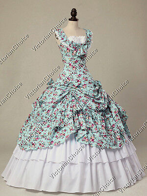 Victorian Southern Belle Dress Easter Gown Theater Reenactment Wear N 081 XXL