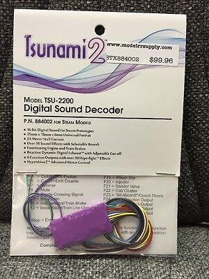 Soundtraxx 884002 Tsunami 2 TSU-2200 STEAM Loco Sound Decoder  MODELRRSUPPLY-com
