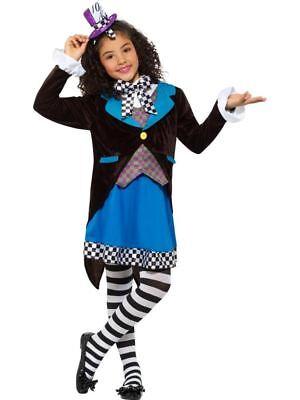 Little Miss Mad Hatter Kostüm,mit Kleid, Mädchen Kostüm, - Mädchen Mad Hatter Kostüm