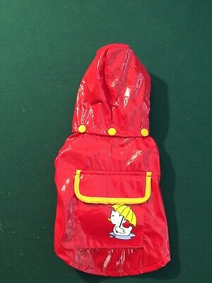 Premium Dog or Cat raincoat with pocket Red cl, duck emb. Extra Small Size NWT