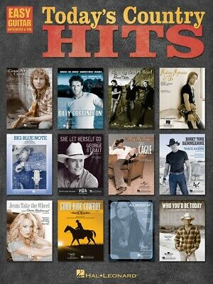 Today's Country Hits Sheet Music Easy Guitar NEW 000702220 Country Hits Easy Guitar