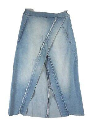 KITX stone washed soft denim skirt size 12 NEW made in Australia