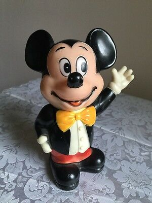 "Vintage 6"" Tall Mickey Mouse Bank - Walt Disney Productions - Made In Korea"