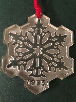 Waterford SNOW CRYSTAL 1st Edition 1995 Christmas Ornament
