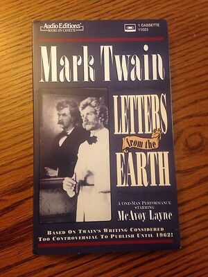 Mark Twain: Letters From The Earth. McAvoy Layne.  Audio Book Cassette (Mark Twain Letters From The Earth Audiobook)
