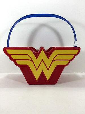 NEW WONDER WOMAN Toy Figure BUCKET Gift Storage Beach Candy Basket Bin Garden