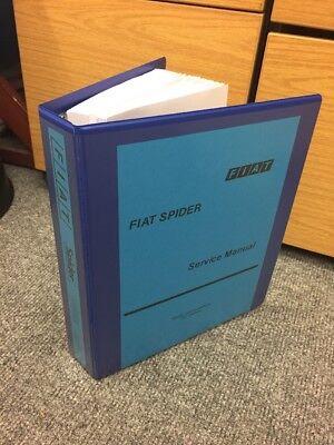 Fiat 124 Spider Factory workshop service manual spyder technical instruction