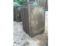 NOW SOLD *** grey concrete used paving slabs 600 x 750 *** NOW SOLD