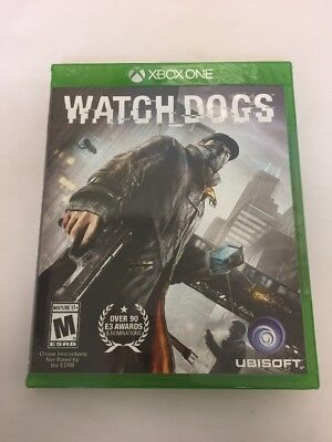 Watch Dogs Ubisoft Microsoft Xbox One Video Game Brand New Sealed Free Shipping