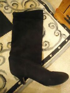 ITALIAN BRUSHED BLACK SUEDE  BOOTS
