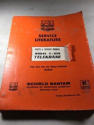Bantam Koehring T-450 Telekrane Parts And Service Manual