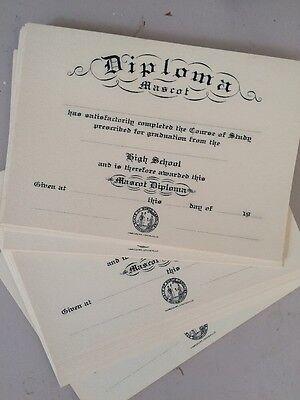 Vintage Lot Of Mini Mascot Diplomas North Carolina